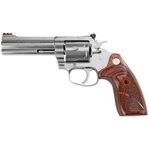 "Colt King Cobra Target .357 Magnum Revolver 4.25"" Barrel 6 Rounds Altamont Wood Medallion Grips Matte Stainless Steel Finish"