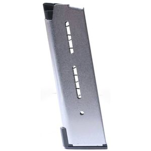 Wilson Combat 1911 Officer/Defender/Compact Magazine .45 ACP 8 Rounds Lo-Profile OM Steel Base Pad Stainless Steel 47DOX