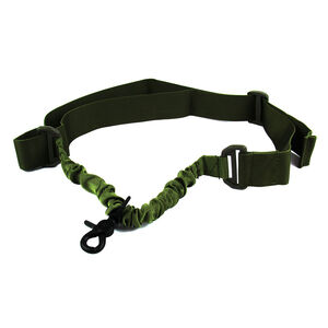 TacFire Single Point Double Bungee Rifle Sling Snap-On Clip OD Green SL001OD