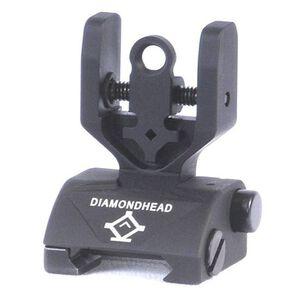 Diamondhead AR-15 Classic Rear Flip Up Combat Sight Aluminum Black 1301