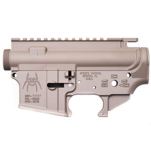Spikes Tactical AR-15 Stripped Upper and Lower Receiver Set Aluminum FDE STS1512