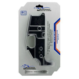 Anderson Manufacturing AM15 AR-15 Stripped Lower Receiver Multi-Caliber Compatible Mil-Spec Forged 7075-T6 Aluminum Matte Black
