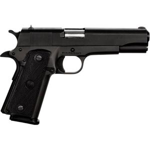 "Rock Island Armory GI Standard FS 1911 Semi Auto Handgun .45 ACP 5"" Barrel 10 Rounds Synthetic Grip Parkerized Black Finish 51453"