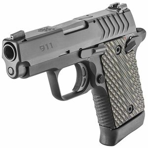 "Springfield Armory 911 9mm Luger Semi Auto Pistol 3"" Barrel 7 Rounds Night Sights Aluminum Frame G10 Grips Black"