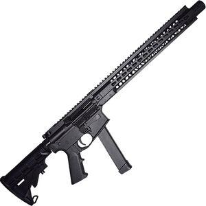"Brigade Manufacturing BM-9 9mm Luger AR-15 Semi Auto Rifle 16"" Barrel 33 Rounds UNI-Rail Handguard Collapsible Stock Graphite Black Finish"