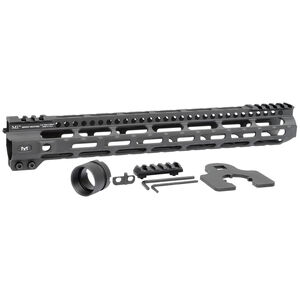 "Midwest Industries AR-15 Combat Lightweight 14"" One Piece Free Float M-LOK Hand Guard 6061 Aluminum Hard Coat Anodized Matte Black"