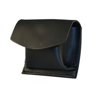 "Boston Leather Rubbler Glove CPR Shield Pouch 2.25"" Belt Velcro Leather Plain Black 5640V-1"