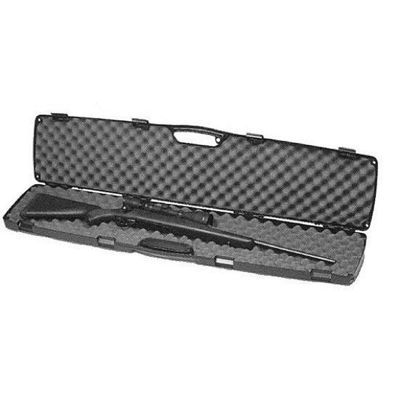 "Plano SE Series Single Scoped Rifle Case 48"" Length Contoured Recessed Latches Molded In Handle High Density Interlocking Foam Polymer Matte Black 1010470"