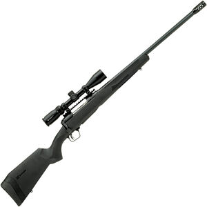 "Savage 110 Apex Hunter XP .450 Bushmaster Bolt Action Rifle 22"" Barrel 3 Rounds with Muzzle Brake and 3-9x40 Scope Synthetic Stock Black Finish"