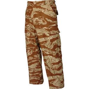 Tru-Spec Men's Classic BDU Pants Size Medium Length Regular Cotton Ripstop Desert Tiger Stripe 1598004