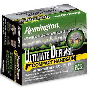 Remington Ultimate Defense .38 SPL +P 125 Grain BJHP 20 Round Box