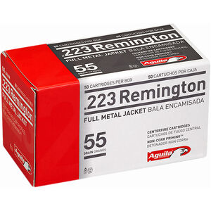 Aguila Centerfire Rifle .223 Rem Ammunition 50 Rounds 55 Grain FMJ 3215fps