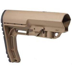 Mission First Tactical AR-15 Battlelink Minimalist Stock Mil-Spec Polymer Dark Earth BMSMIL-SDE
