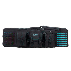 """Voodoo Tactical 42"""" Padded Weapons Case Nylon Black/Teal"""