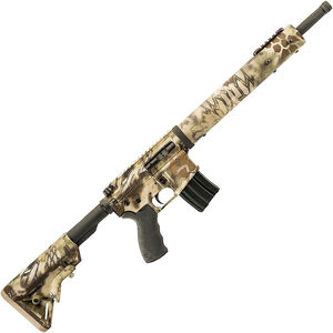 "Alexander Arms Hunter .50 Beowulf AR-15 Semi Auto Rifle 16.5"" Threaded Barrel 7 Rounds Freefloat Handguard Collapsible Stock Kryptec Highlander Camo Finish"