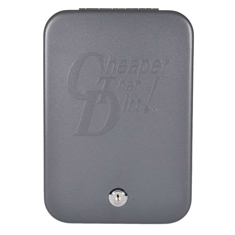 """Cheaper Than Dirt! Extra Large SnapSafe Lock Box with a 47"""" Cable, Two Access Keys, Cheaper Than Dirt Logo, Steel Construction 75210"""