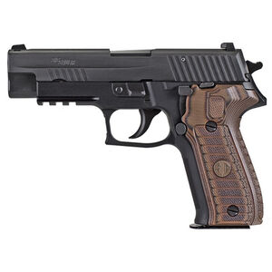 "SIG Sauer P226 Select Semi Auto Pistol 9mm Luger 4.4"" Barrel 15 Rounds SIGLite Night Sights SIG Rail Custom G10 Grips Stainless Steel Slide/Alloy Frame Nitron Black Finish"