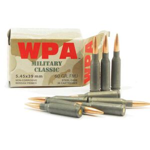 Wolf Military Classic 5.45x39mm Ammunition 750 Rounds JSP 55 Grain