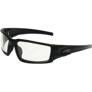 Hypershock Shooter's Safety Glasses Clear Lenses with HydroShield Anti-Fog Coating Black Polymer Frame Comfort Molded Temple