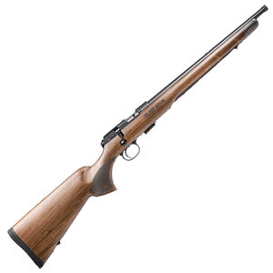 """CZ-USA 457 Royal .22 Long Rifle Bolt Action Rifle 16"""" Barrel 5 Rounds Detachable Magazine Turkish Walnut Stock Blued Finish"""