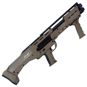 "Standard Manufacturing DP-12 12 Gauge Double Barrel Pump Action Shotgun, 18 7/8"" Barrels, 16 Rounds, FDE"