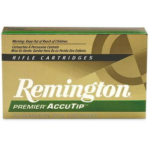 Ammo .17 Rem Fireball Remington Premier 20 Grain AccuTip-V Bullet 4000 fps 20 Rounds PRA17FB