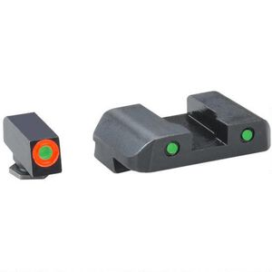 AmeriGlo Spartan Sight Set For GLOCK 43 Tritium NightSight