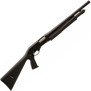 "Savage Stevens 320 Security Pump Action Shotgun 20 Gauge 18.5"" Barrel 5 Rounds Black Synthetic Stock with Vertical Pistol Grip Black 22438"