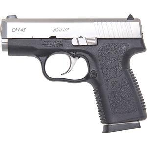 "Kahr Arms CM45 .45 ACP Semi Auto Pistol 3.24"" Barrel 5 Rounds Black Polymer Frame Matte Stainless Steel Slide"