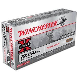 Winchester Super X .22-250 Remington Ammunition 20 Rounds, PP, 64 Grains