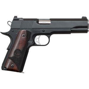 "Dan Wesson 1911 Vigil .45 ACP Semi Auto Pistol 5"" Barrel 8 Rounds Fixed Front Night Sight/Tactical Rear Sight Wood Grips Forged Aluminum Frame Matte Black Finish"