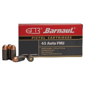Barnaul Pistol Cartridges .45 ACP Ammunition 500 Rounds 230 Grain Full Metal Jacket Projectile Steel Cased Cartridges