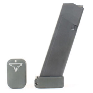 Taran Tactical Innovations Firepower Base Pad Kit +2/+3 GLOCK 19/23 CNC Machined Billet Aluminum Anodized OD Green Finish