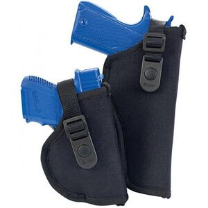 """Allen Cortez Thumbsnap Holster Size 04 4.5"""" to 5"""" Large Frame Autos Nylon Black   Right Hand"""