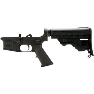 DPMS AR-15 5.56 NATO Complete Lower Receiver Assembly with Collapsible Pardus Stock Black