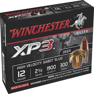 "Winchester Elite 12 Ga 2.75"" 300 gr XP3 Sabot Slug 5 rds"