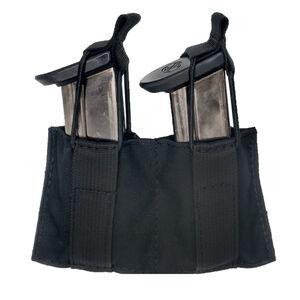 Tac shield Magholder DoublePistol Mag Pouch Black 500D Nylon