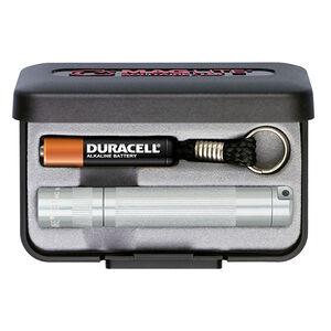 Maglite Solitaire LED Flashlight 37 Lumens AAA Battery Twist Switch Key Chain Mount Aluminum Silver Presentation Box J3A102