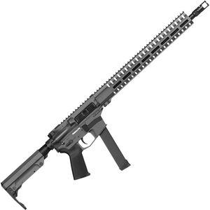 "CMMG Resolute 300 MkGs 9mm Luger AR-15 Semi Auto Rifle 16"" Barrel 33 Rounds Uses GLOCK Style Magazines RML15 M-LOK Handguard RipStock Collapsible Stock Sniper Gray Finish"