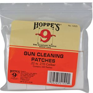 Hoppes Cleaning Patches .22 through .270 Caliber 500 Count