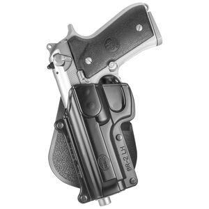 Fobus Holster Beretta 92,96,M9/CZ 75B/Taurus PT92,PT99 Left Hand Paddle Attachment Polymer Black