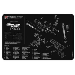 "TekMat SIG Sauer P320 Armorer's Bench Mat 11""x17"" Fabric/Neoprene Black"