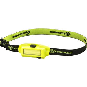 Streamlight Bandit Head Lamp 180 Lumens LED Rechargeable Battery Push Button Switch Headband/Hat Clip Polycarbonate Yellow