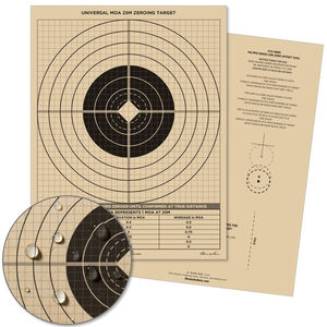 """Rite in the Rain All-Weather Zeroing Targets Universal MOA Sight-In 8.5"""" x 11"""" 100 Per Pack Tan"""