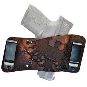 VersaCarry Underground Plus Rapid Slide S3 Thunderbird Multi-Fit Ambidextrous IWB/OWB Tuckable Holster Leather Distressed Brown