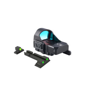 Meprolight MicroRDS Red Dot Micro Sight With S&W M&P Quick Detach Adapter and Backup Sights Black ML880504