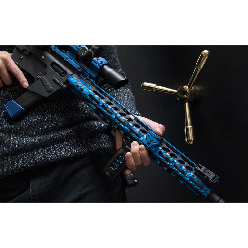 "UTG PRO M-LOK AR-15 15"" Ultra Slim Rail, Black & Blue Two-Tone"