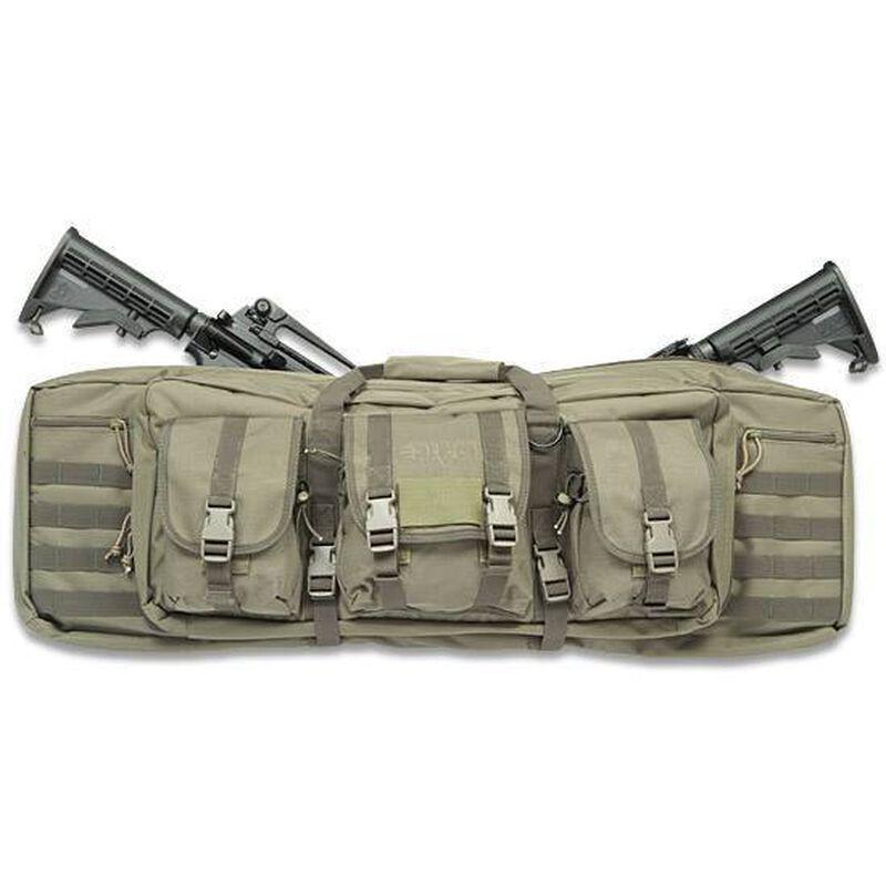 "Drago Gear 36"" Double Gun Case Tactical Soft Case 600 Denier Nylon MOLLE Panels OD Green"