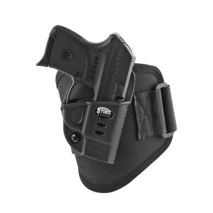 Fobus Ankle Holster Kel-Tec P-32/P-3AT/Ruger LCP Right Hand Draw Polymer Shell/Cordura Pad with Velcro Strap Matte Black Finish