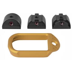 Battle Arms Development Anodized Aluminum Magwell for Glock 19/23/32 Gen 1-4 Gold